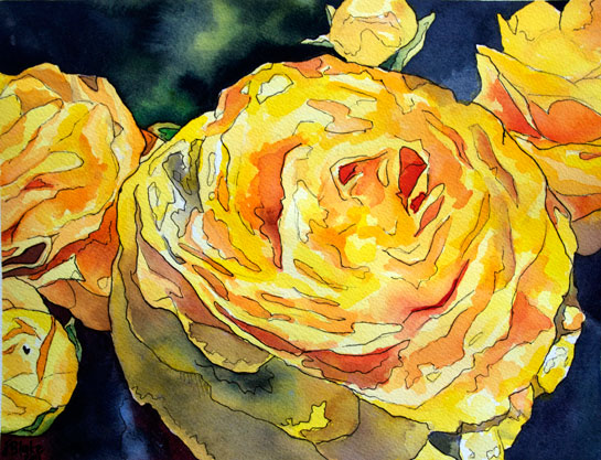 In Real Life And Paintings Here Is My Latest Watercolor Of These Beautiful Yellow Flowers I Painted Them For Good Friend Louisa Her Birthday